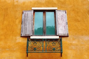 Window of Italian house