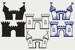 Cartoon castles SVG