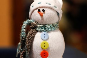 Handmade Xmas decoration snowman