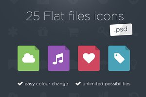 25 Flat files icons
