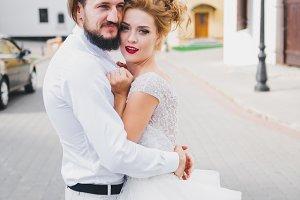 Beauty couple wedding portrait