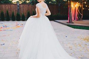 Beauty wedding portrait bride