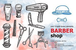 BarberShop Sketch Set