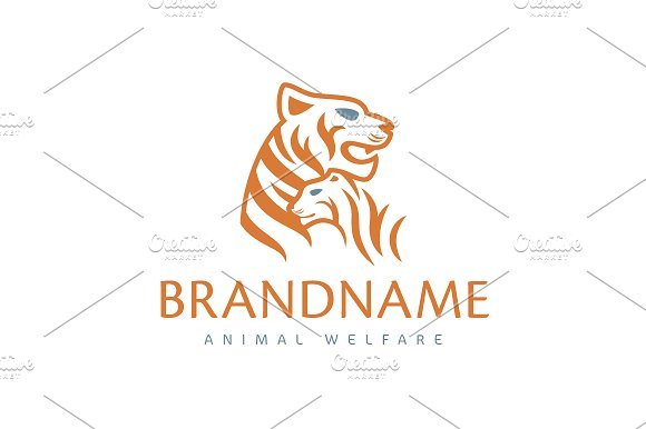 Tiger Family Logo ~ Logo Templates ~ Creative Market