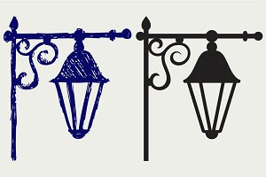 Old lamp SVG