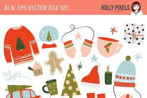 Winter Holiday Clipart Vector