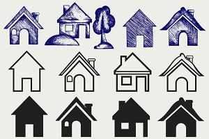 Houses icons SVG