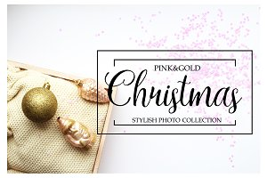 Pink & Gold Christmas cl.