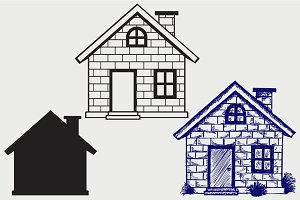 Detailed house SVG