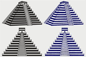 Pyramids in mexico SVG