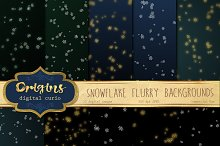 Snowflake Flurry Backgrounds