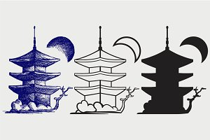 Buddhist Zen Temple SVG