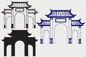 Chinese gate SVG