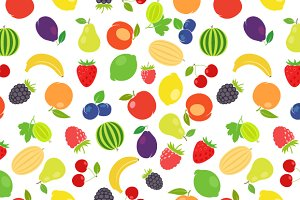 Fruits colorful pattern