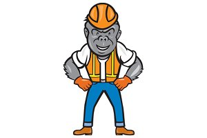 Angry Gorilla Construction Worker Ca