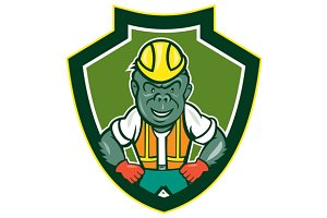 Angry Gorilla Construction Worker Sh