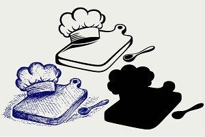 Cutting board, chef hat