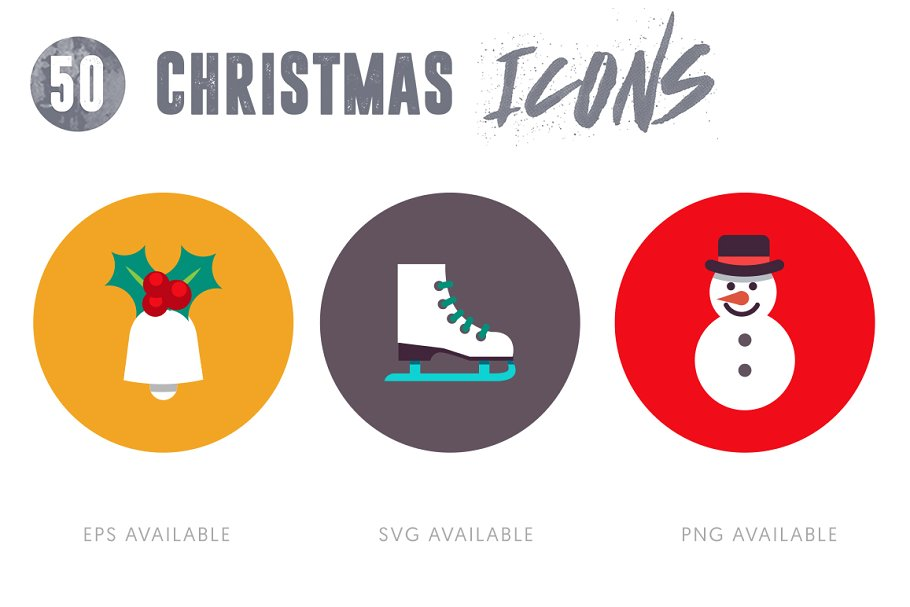 50 Christmas Icons Vol.3 in Christmas Icons - product preview 3
