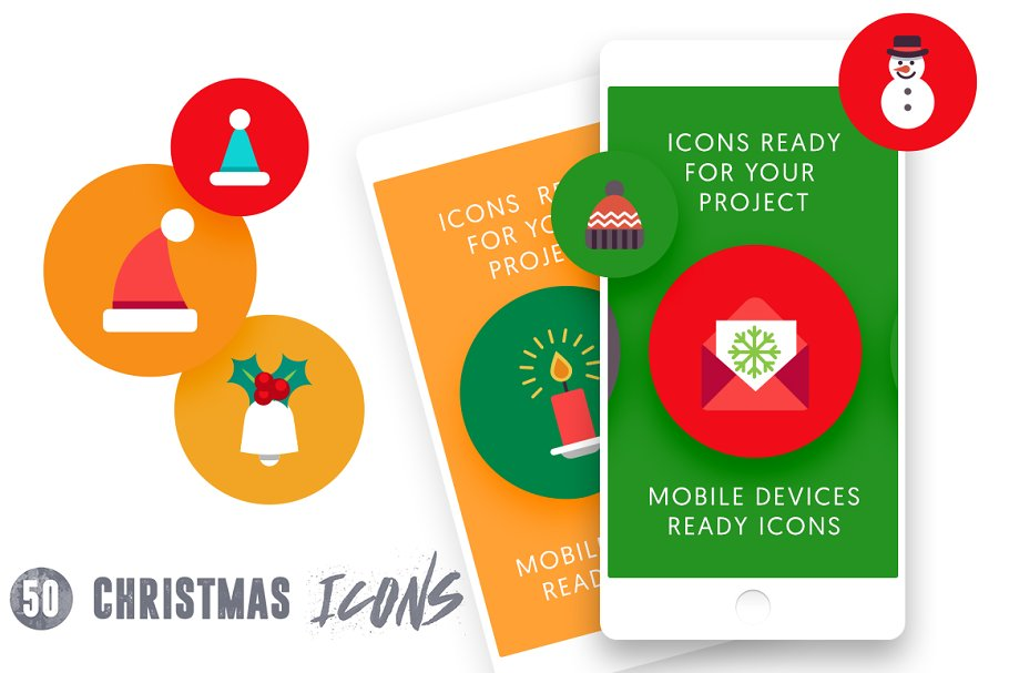 50 Christmas Icons Vol.3 in Christmas Icons - product preview 4