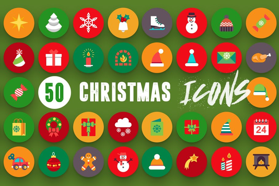 50 Christmas Icons Vol.3 in Christmas Icons - product preview 5