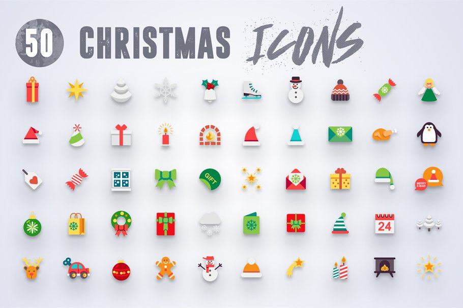 50 Christmas Icons Vol.3 in Christmas Icons - product preview 6
