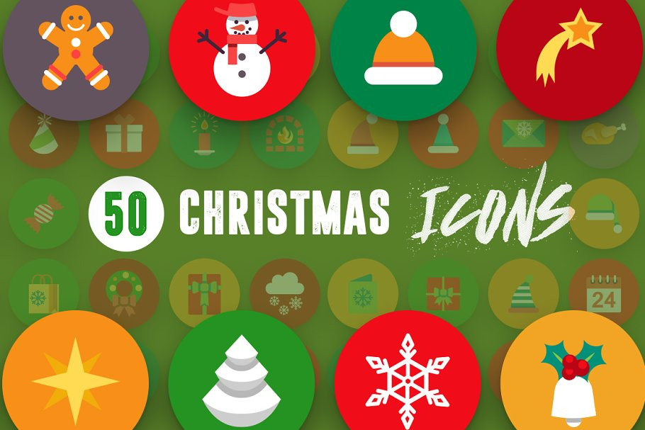 50 Christmas Icons Vol.3 in Christmas Icons - product preview 7