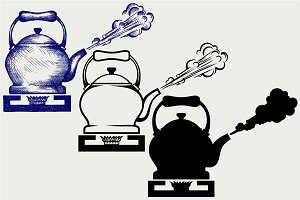Tea kettle SVG