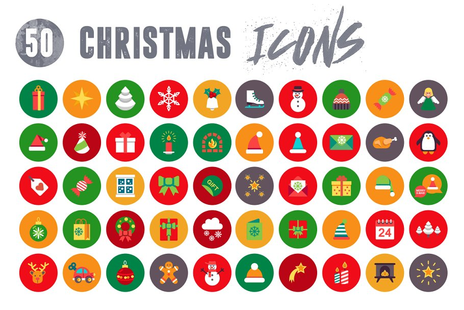 50 Christmas Icons Vol.3 in Christmas Icons - product preview 2