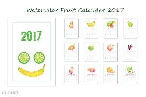 2017 Calendar Watercolor Fruit