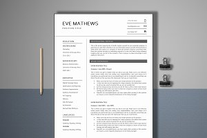 Resume Template 4 Page | Universal