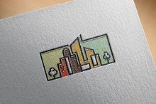Simple City Building Skyline