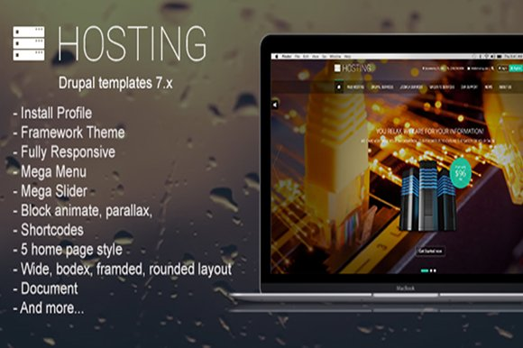 Hosting - Multipurpose Drupal Theme