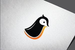 Simple Penguin Abstract Cartoon