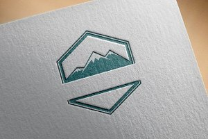 4 Mountain Emblem Badge Stamp