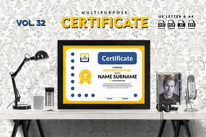 Best Multipurpose Certificate Vol 32