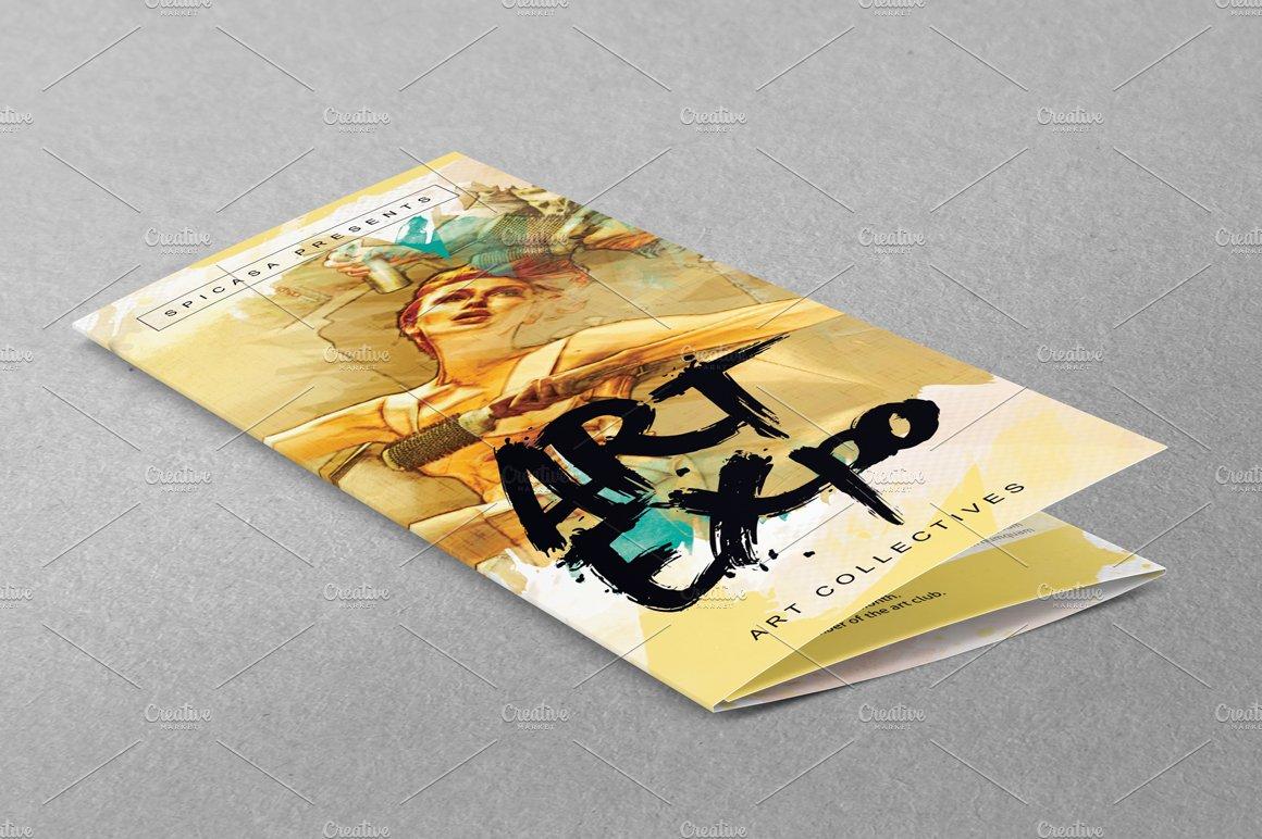 Art Showexpo Trifold Brochure Brochure Templates Creative Market