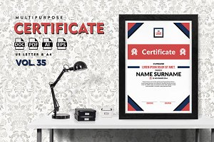 Best Multipurpose Certificate Vol 35