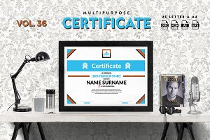 Best Multipurpose Certificate Vol 36