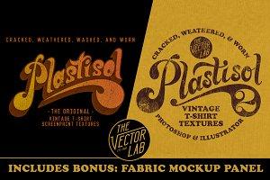 Plastisol 1&2 T-Shirt Texture Bundle