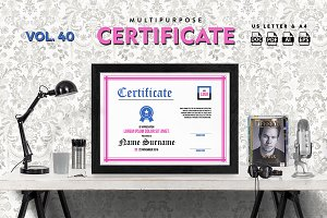 Best Multipurpose Certificate Vol 40
