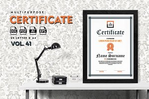 Best Multipurpose Certificate Vol 41