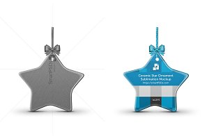 Star Shaped Ceramic Ornament