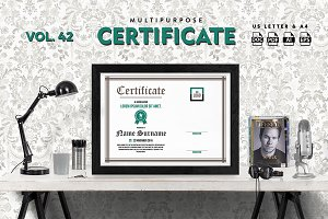 Best Multipurpose Certificate Vol 42