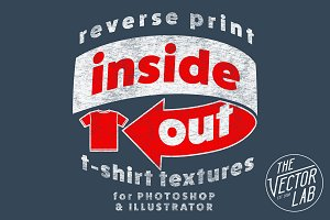 Inside Out Reverse Print Tee Texture