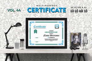Best Multipurpose Certificate Vol 44