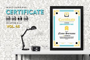 Best Multipurpose Certificate Vol 45