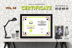 Best Multipurpose Certificate Vol 46