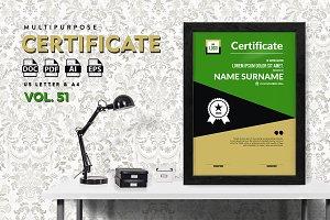 Best Multipurpose Certificate Vol 51