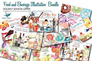 Food & Beverage illustration bundle