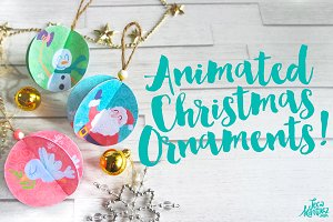 Animated Christmas Ornaments